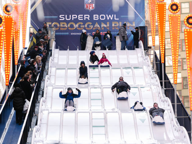 Super Bowl Boulevard photos