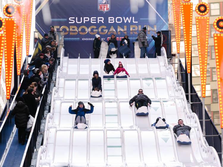 Super Bowl Boulevard photos