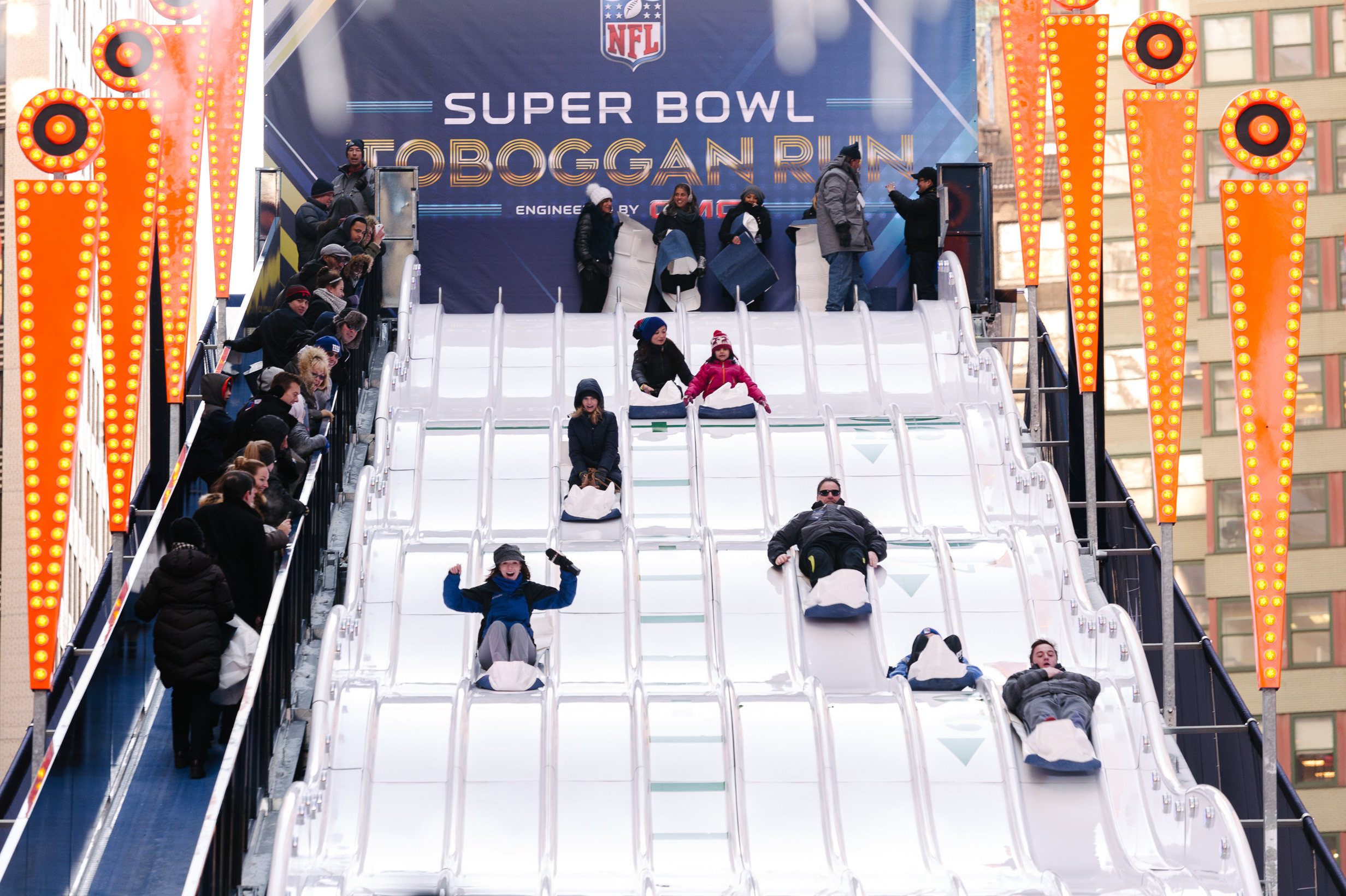 Super Bowl Boulevard: Highlights from the New York Super Bowl event in Times Square