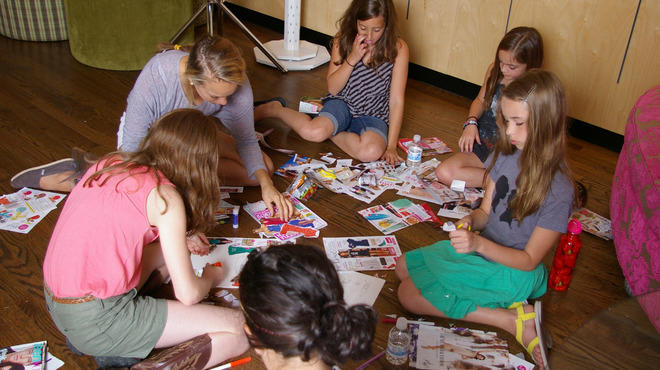 Campers at Frankie's Fashion Camp tap their creative sides.