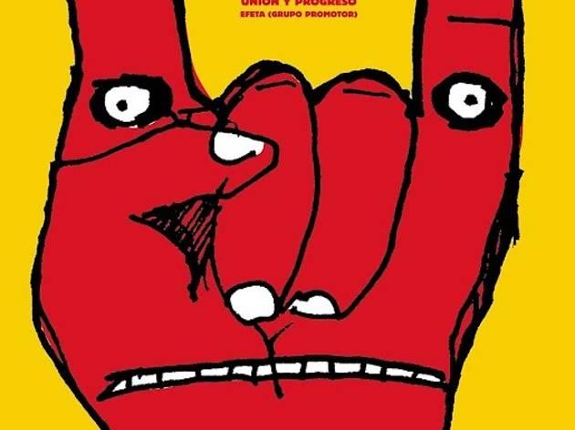 (Alejandro Magallanes, affiche pour le Colegio Montessori, sérigraphie, 2001)