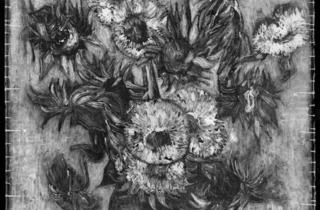 Vincent van Gogh (X-ray of 'Sunflowers' 1889)