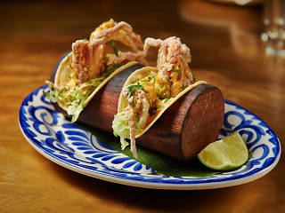 Soft-shell-crab taco at Bodega Negra