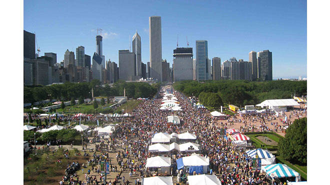 Taste of Chicago draws one million visitors each year.