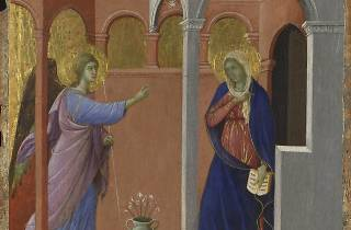 Duccio ('The Annunciation', 1307/8-11)