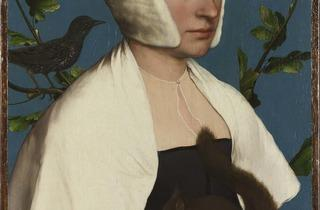 Hans Holbein the Younger ('A Lady with a Squirrel and a Starling (Anne Lovell?)', about 1526‑8)