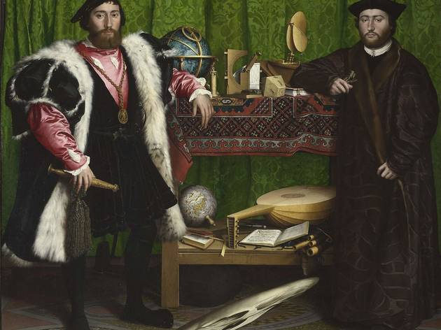 Hans Holbein the Younger  ('Jean de Dinteville and Georges de Selve ('The Ambassadors')', 1533)