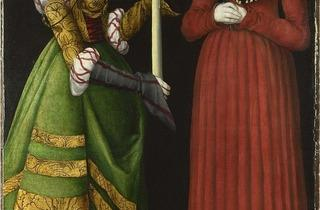 Lucas Cranach the Elder ('Saints Genevieve and Apollonia', 1506)