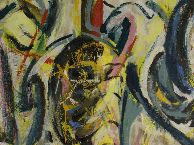 """Jackson Pollock's """"Mural"""" (cropped)"""