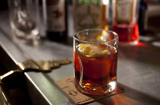 The smoked negroni is on the menu at SideDoor, a gastropub in River North.