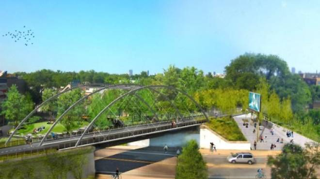 The 606 will stretch from Wicker Park to Logan Square.