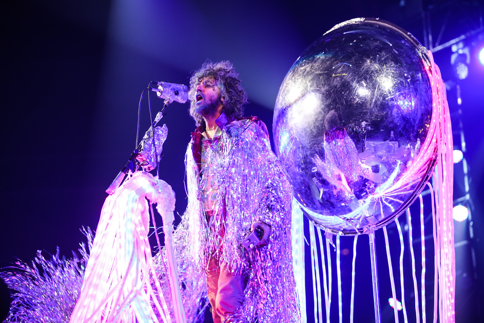 Wayne Coyne of The Flaming Lips performs onstage during the Amnesty International Concert at Barclays Center