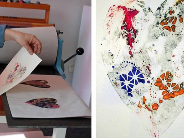 Valentine's Day Print Workshop