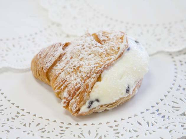 Sfogliatelle at the Sicilian Bakery