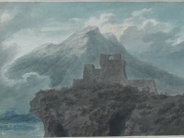 John Robert Cozens  ('A ruined fort near Salerno' c1782, © The Courtauld Gallery)