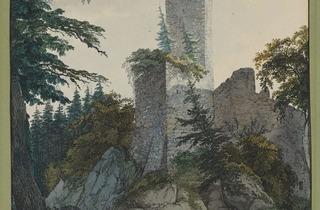 Carl Philipp Fohr  ('The Ruins of Hohenbaden', 1814-15. © The Morgan Library & Museum)