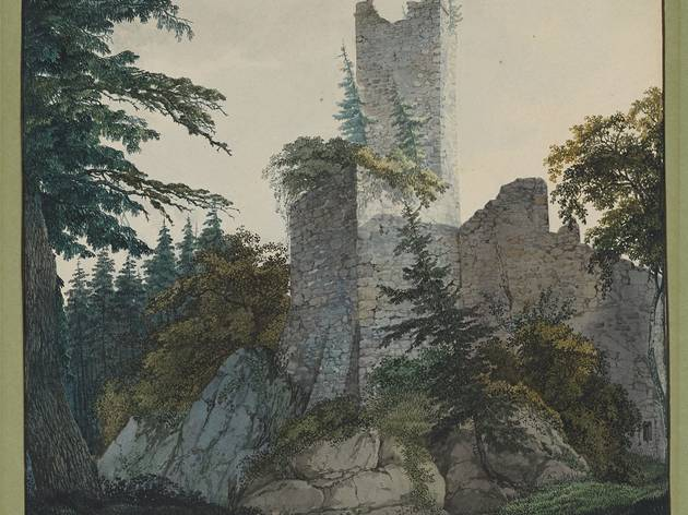 Carl Philipp Fohr  ('The Ruins of Hohenbaden', 1814-15. © The Morgan Library & Museum)