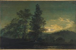 Caspar David Friedrich  ('Moonlit landscape' c1808, © The Morgan Library & Museum)