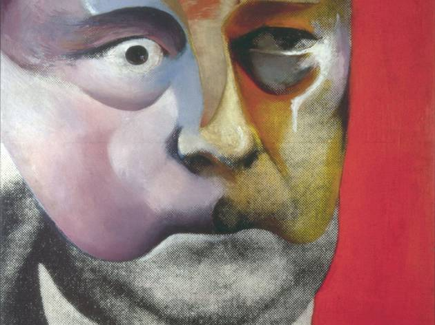 Richard Hamilton ('Portrait of Hugh Gaitskell as a Famous Monster of Filmland' 1964, © The Estate of Richard Hamilton)