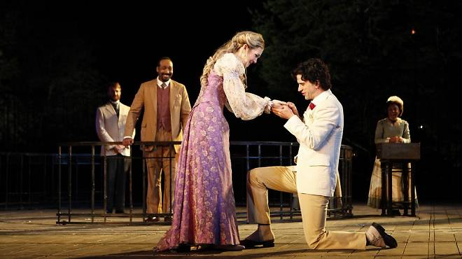 Lily Rabe and Hamish Linklater in The Merchant of Venice (2010)