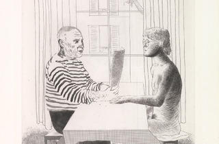David Hockney ('Artist and Model', 1973-74)
