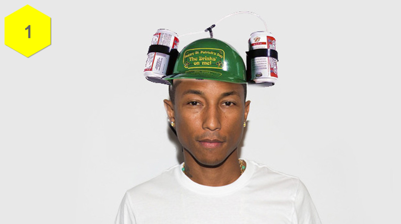 Six hats Pharrell should wear to The BRIT Awards