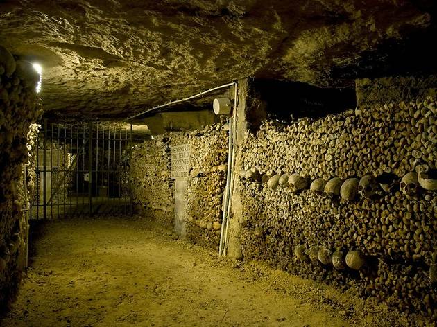 In a catacomb