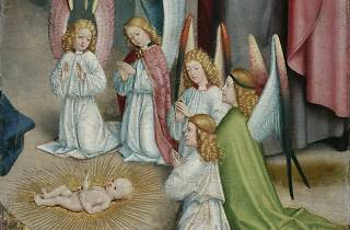 Master of Liesborn ('Angels Worshipping the Christ Child' (1470-80) )