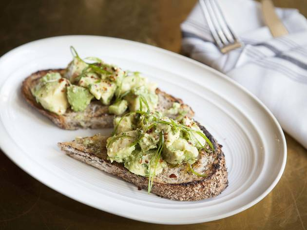 Avocado toast at LA Chapter located in the Ace Hotel Downtown LA