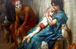 (Gustave Doré, 'Les Saltimbanques' dit aussi 'L'Enfant blessé', 1874 / © Ville de Clermont-Ferrand, musée d'art Roger-Quilliots)