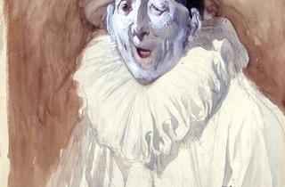(Gustave Doré, 'Pierrot grimaçant', sans date / © Photo : musées de Strasbourg)