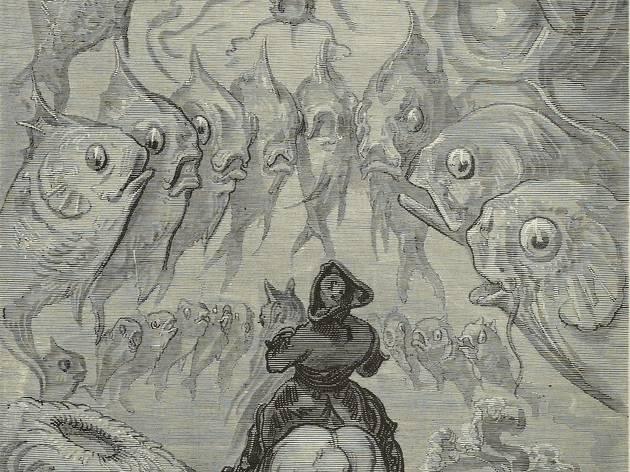 (Gustave Doré, « D'autres étaient rangés en cercles... », publiée dans Rudolf Erich Raspe, 'Les Aventures du Baron de Münchhausen', Paris, 1862 / © Bibliothèque nationale de France)