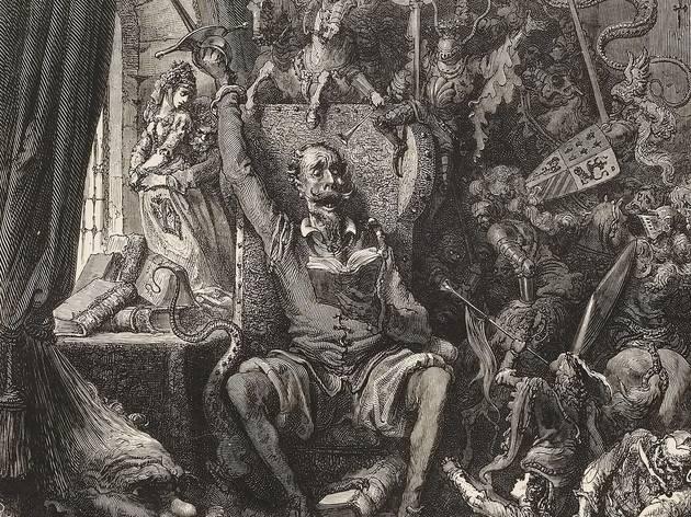 (Frontispice de 'Don Quichotte', illustré par Gustave Doré, gravé par Héliodore Pisan (1822 - 1890), Paris, Librairie Hachette, 1863 / ©Bibliothèque nationale de France)