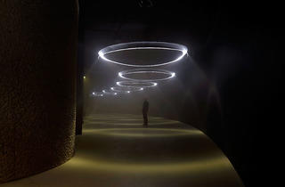 United Visual Artists (Installation of 'Momentum' at The Curve, Barbican Centre 2014)
