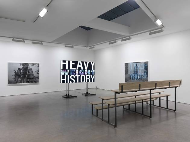 Christian Jankowski (Installation view of 'Heavy Weight History' at Lisson Gallery, London 2014)