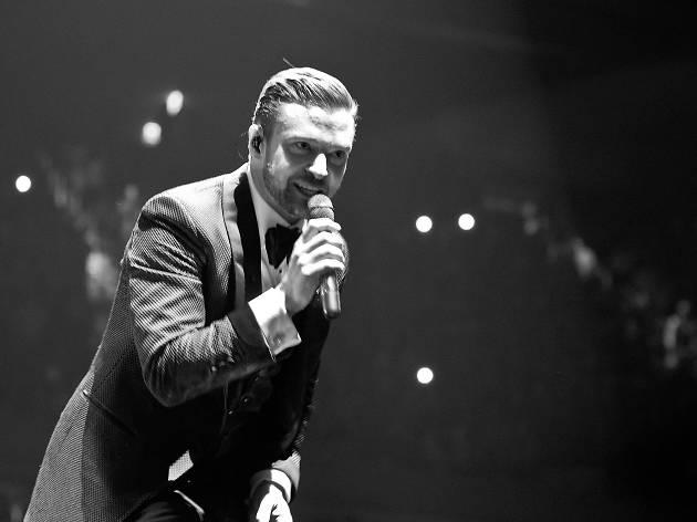 Justin Timberlake performs at Madison Square Garden on February 20, 2014.