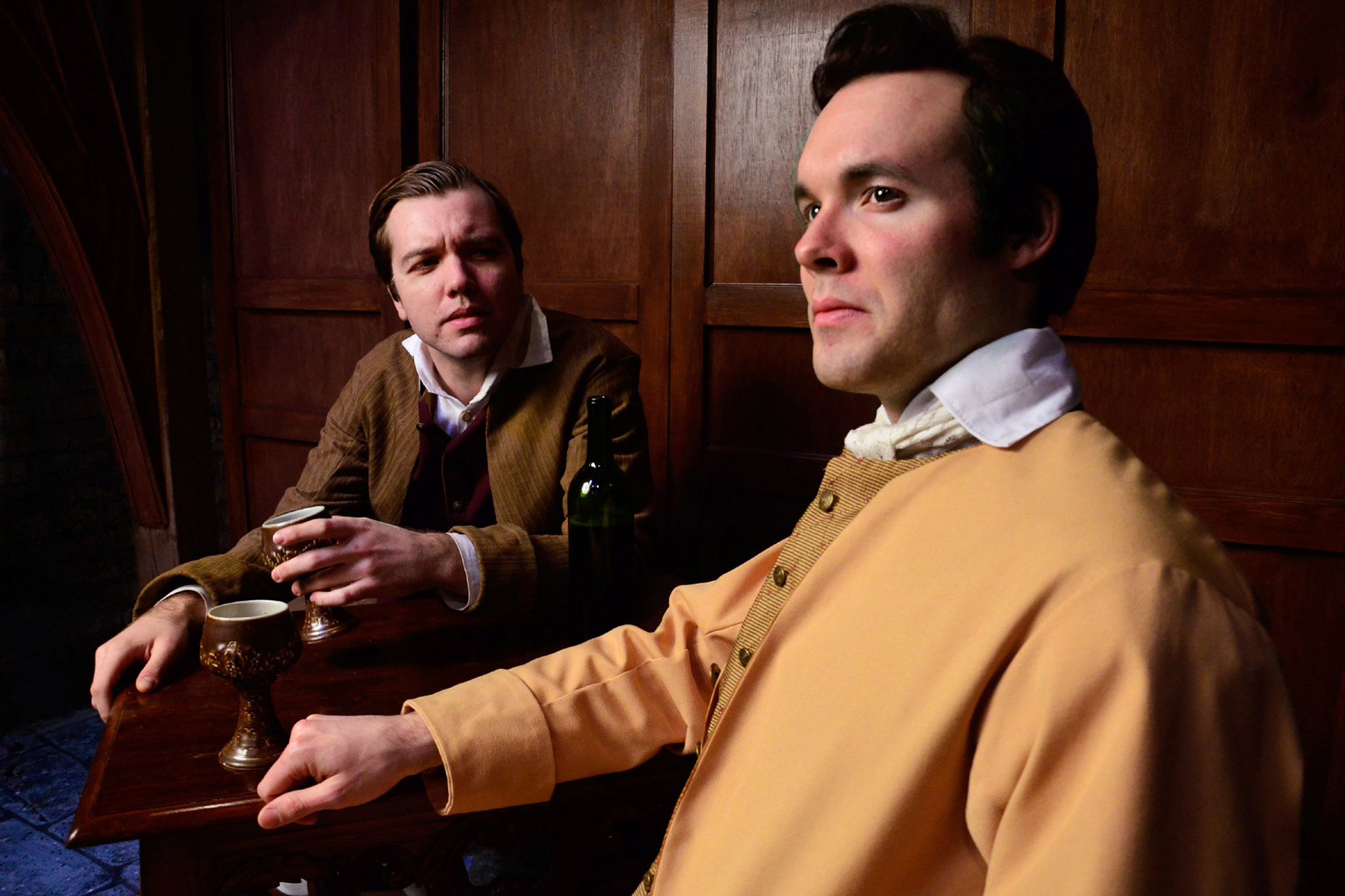 Josh Hambrock and Nicholas Bailey in A Tale of Two Cities at Lifeline Theatre