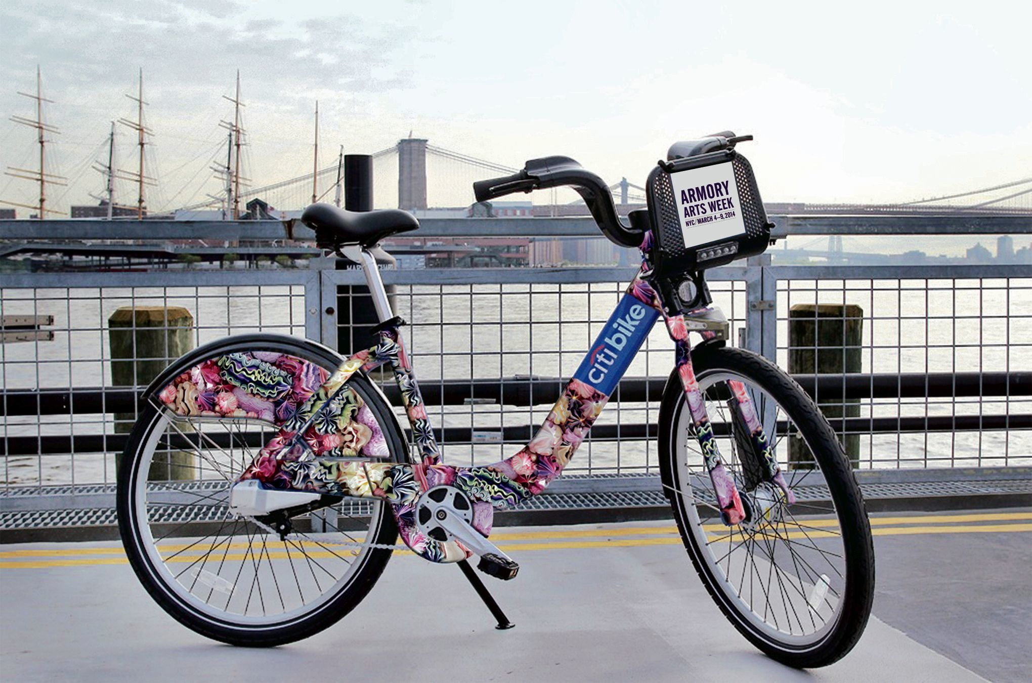 Ride a limited-edition, arty Citi Bike during the Armory Show