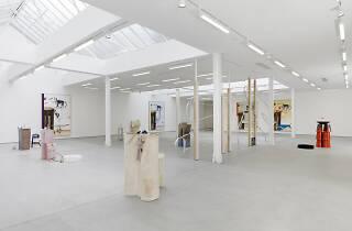 Installation view of Helen Marten at Sadie Coles