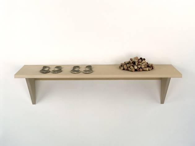 Haim Steinbach ('Untitled (insoles, corks)' 1997)