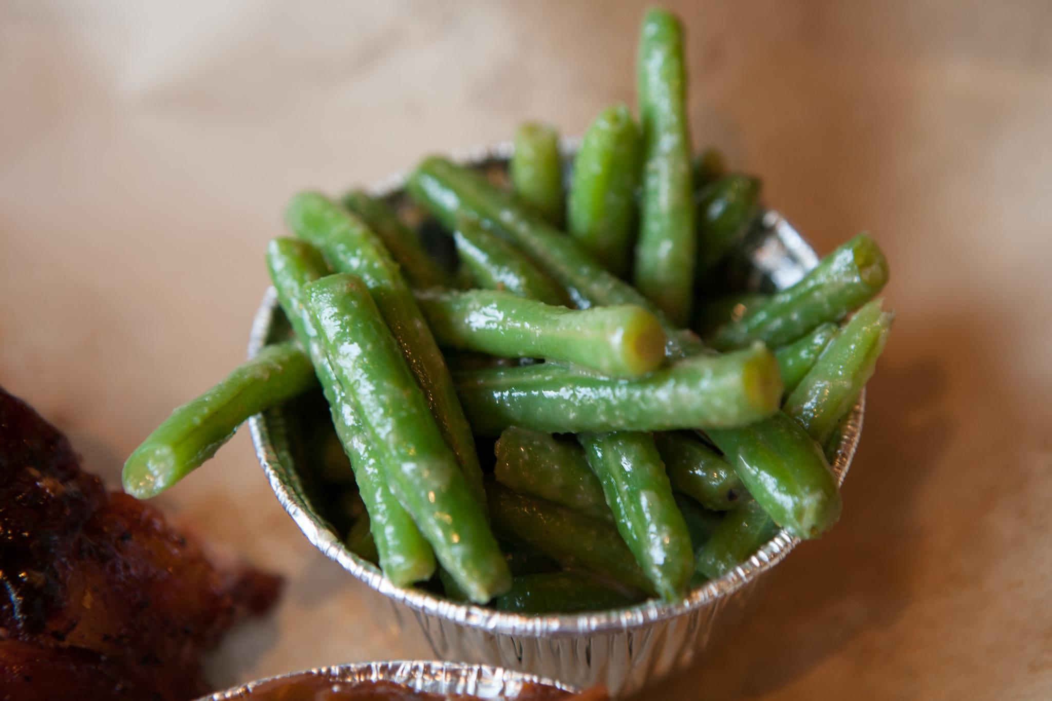 Green Beans at Q BBQ.