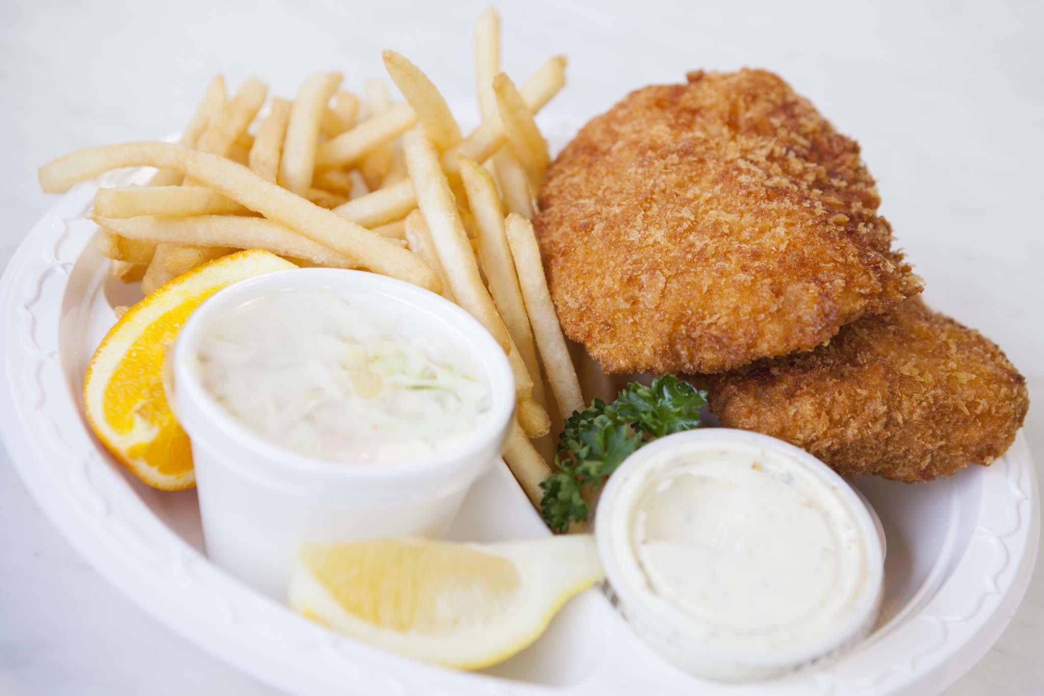 Fish and chips at Fish King