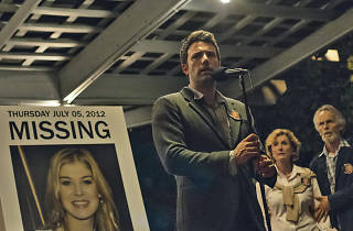 Gone Girl (by David Fincher, with Ben Affleck and Rosamund Pike)
