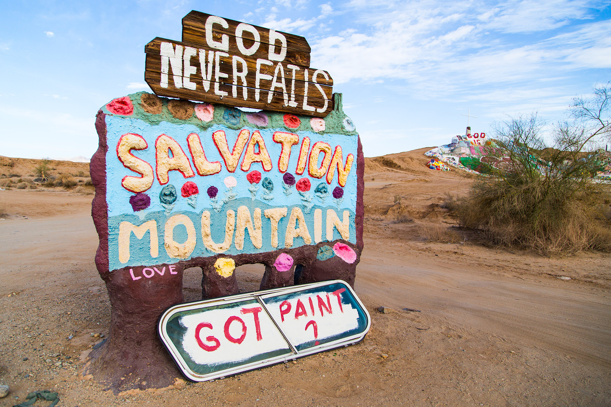 Salton Sea, Salvation Mountain, Slab City, California Desert