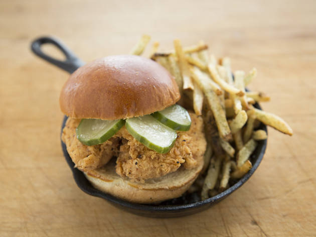 <p>Leghorn Chicken sells two kinds of chicken sandwiches.</p>