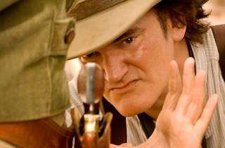 Director Quentin Tarantino on the set of Django Unchained 2012