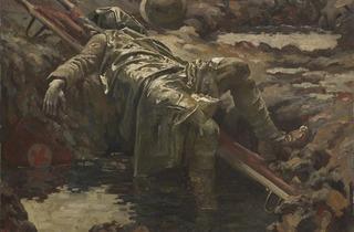 Gilbert Rogers ('The Dead Stretcher-Bearer', 1919, © IWM)