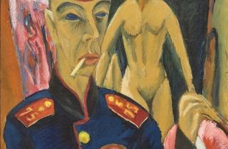 Ernst Ludwig Kirchner (' Selbstbildnis als Soldat (Self-portrait as a Soldier)', 1915, © Allen Memorial Art Museum, Oberlin College, Ohio)