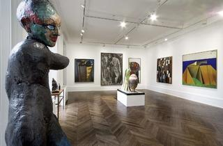Markus Lüpertz ('Players Ball' exhibiiton view. Courtesy Michael Werner Gallery, London)