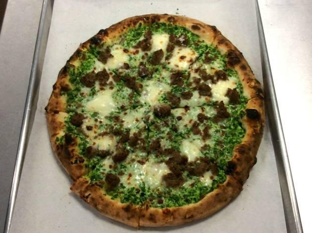 Green Pizza at DeSano Pizza Bakery